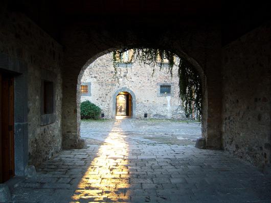 Castello dell'ammiraglio Nelson, cortile