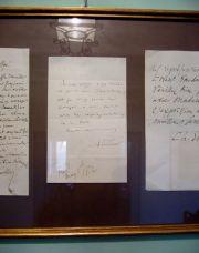 Castello Nelson, biglietto autografo di G. Verdi
