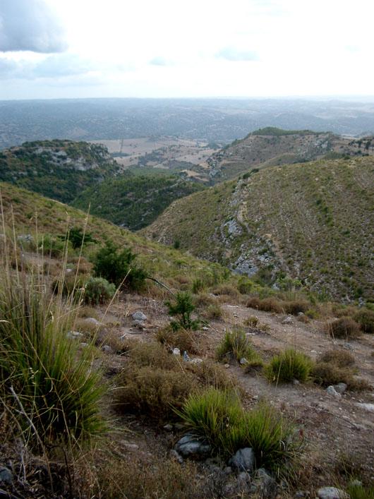 Le colline dei monti Iblei, Castelluccio (Noto, sr)